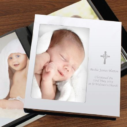 Cross Christening Photo Frame Album